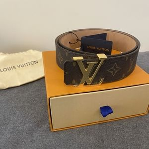 Louis Vuitton Brown Monogram Initiales Belt